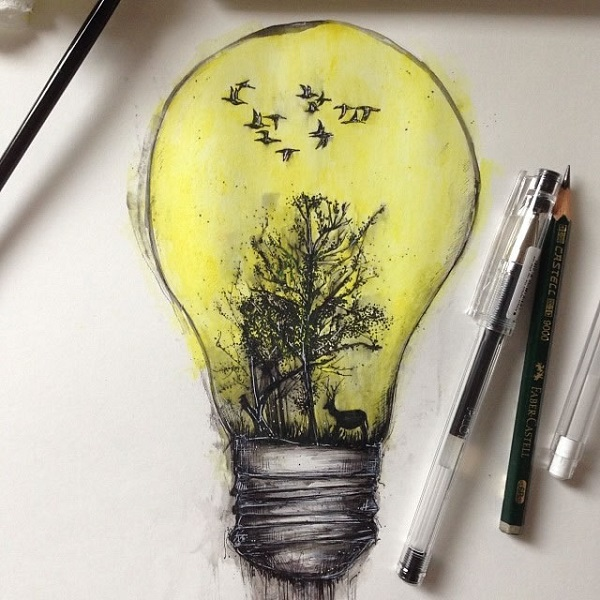alfred basha lampadina foresta