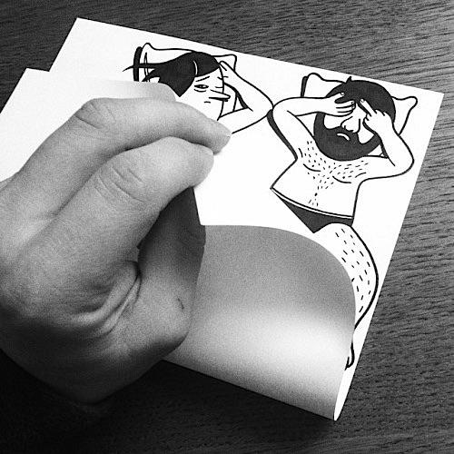 danimarca arte su carta coppia a letto