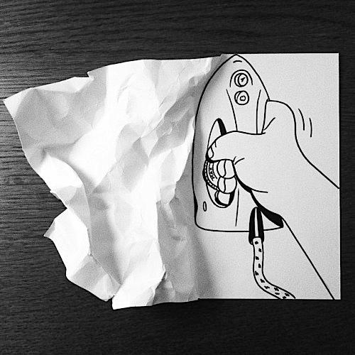 danimarca arte su carta ferro da stiro