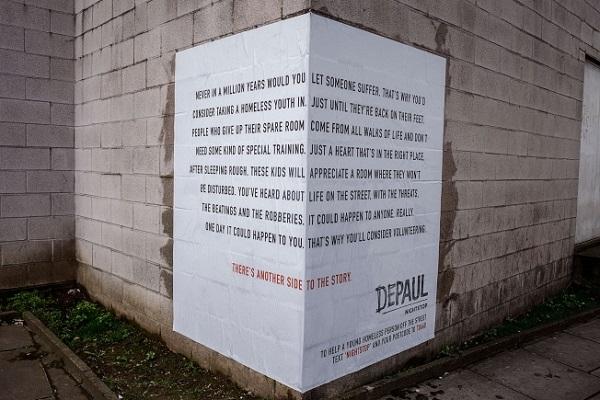 affissioni opinione su senzatetto