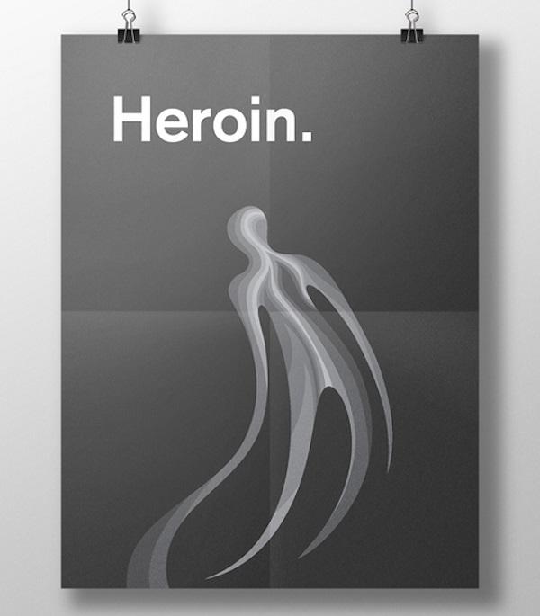effetti visivi delle droghe eroina