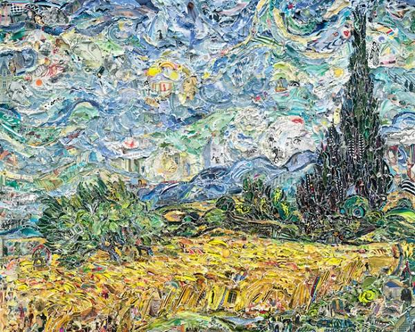 Campo di grano con cipressi di Vincent Van Gogh