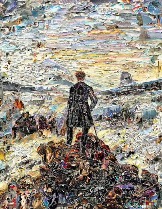 Viandante sul mare di mezzi di Caspar David Friedrich