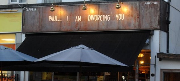 insegna bar divorzio