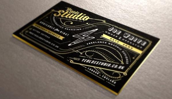 biglietti da visita filo oro