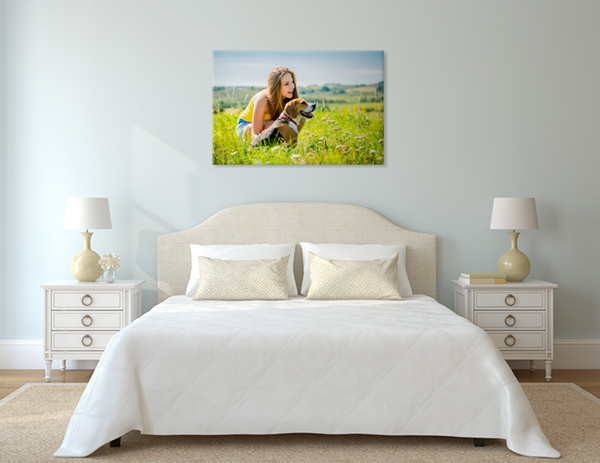 ritratto di signora in camera da letto