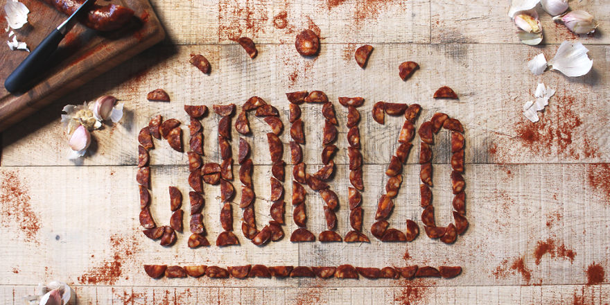food-typography-chorizo