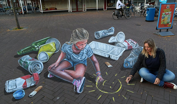 street art marciapiede