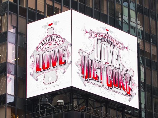 Diet Coke Manifesti retweets of love