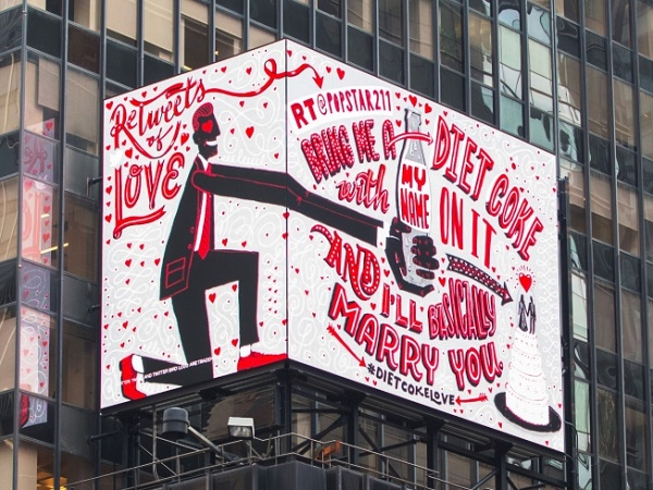 Diet Coke Manifesti retweets of love