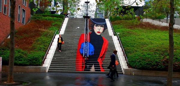 street art  scalinata