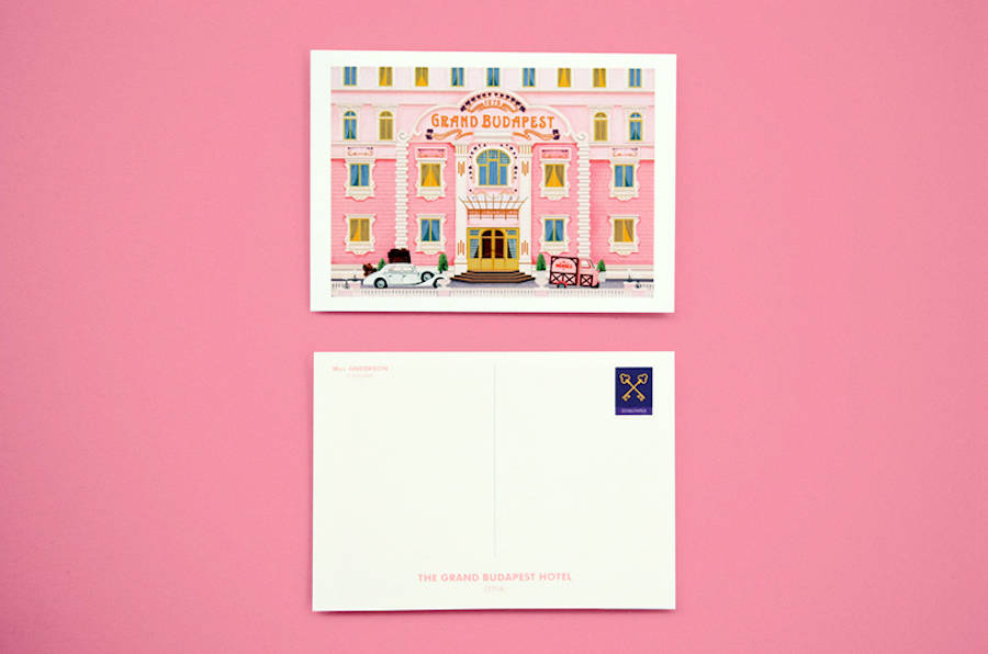 cartoline ispirate a wes anderson