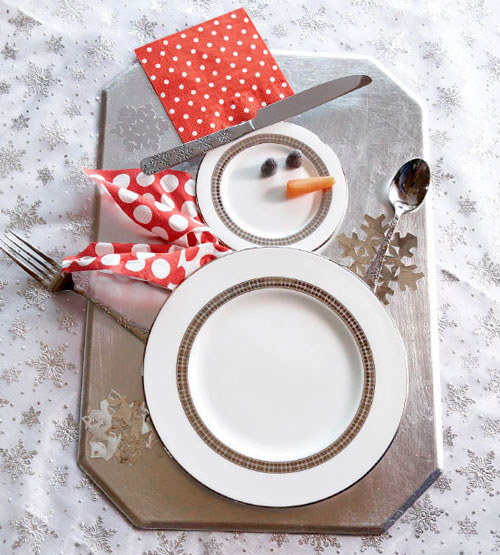 snowman-place-setting
