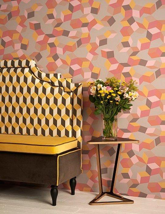 Trend 2016 per la decorazione d 39 interni pattern 3d cubici - Blog decorazione interni ...